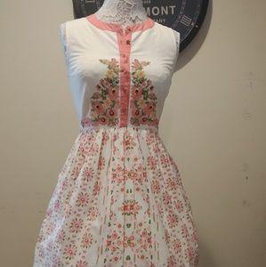 ModCloth Embroidered Aline Dress